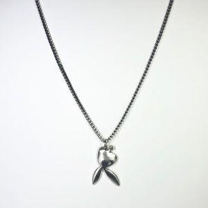Silver Playboi Carti Playboy Necklace